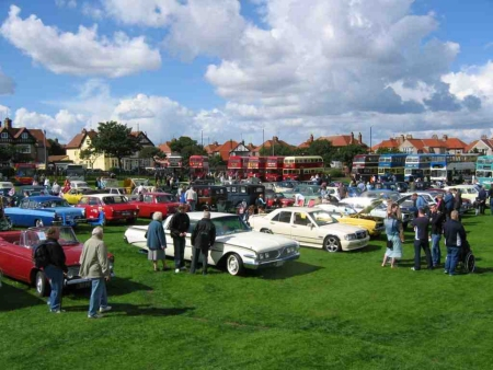 A display of vehicles at the Seaburn Rally