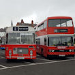 Buses Through the Ages at Bishop Auckland Market Place